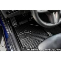 2.5D гумени стелки Frogum модел 77 за Peugeot 5008 след 2017 година, 3 части, черни