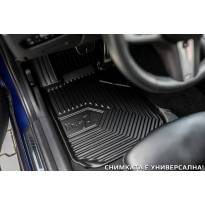 2.5D гумени стелки Frogum модел 77 съвместими с Audi A7 C8 Sportback след 2017 година, 4 части, черни