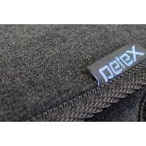Стелки мокет Petex за Nissan Micra (K14) след 2017 година, 4 части, черни, STYLE материя