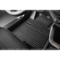 Гумени стелки Frogum за Fiat Fullback двойна кабина след 2016 година, Mitsubishi L200 2016-2019, 4 части, черни