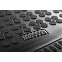 1-Гумена стелка за багажник Rezaw-Plast на Ford Tourneo Custom L1 след 2013 година къса база с 8, 9 места и без нагревател в задната част на автомобила, 1 част, черна